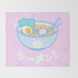 Cute Ramen Throw Blanket