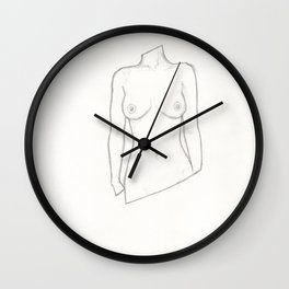 Bust of a Woman Wall Clock
