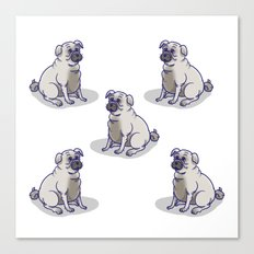 Pugs in a Rug Canvas Print