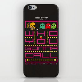pacman ghostbuster iPhone Skin
