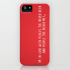 Places & People I've never met ♡ iPhone (5, 5s) Slim Case