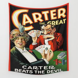 Carter The Great Magician Poster Wall Tapestry