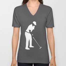 Golf player Unisex V-Neck