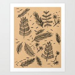 Kraft Paper Pine Art Print