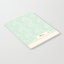Mary - Mint and Cream Notebook