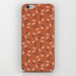Orange small Clams Illustration pattern iPhone Skin