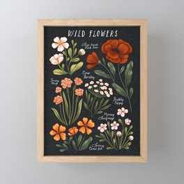 Wild Flowers ~ vol1. Framed Mini Art Print