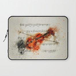 Watercolor Violin (Color) Laptop Sleeve
