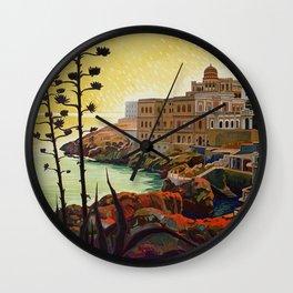 Vintage Italian travel Santa Cesarea Terme Lecce Wall Clock