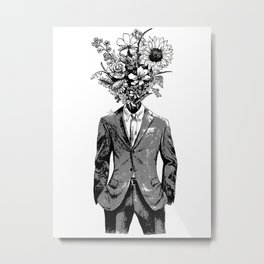 Flower Man Metal Print