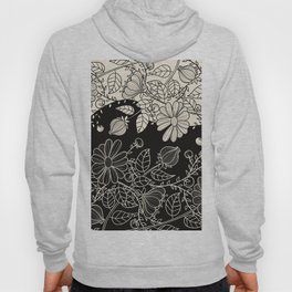 FLOWERS EBONY AND IVORY Hoody