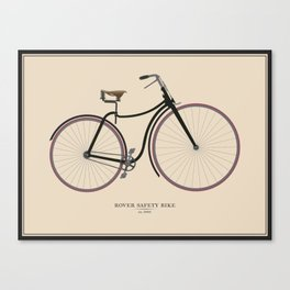 Vintage Rover Safety Bike Canvas Print