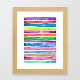 Bright Stripes Framed Art Print