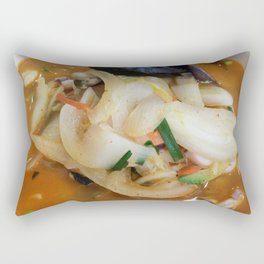 Spicy Seafood Noodle Soup Rectangular Pillow