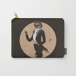 Animal Fashion: S is for Sloth in a smoking. Carry-All Pouch