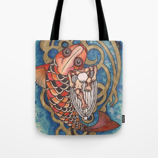 old fisherman Tote Bag