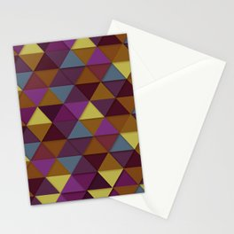 fall geometric pattern Stationery Cards