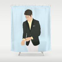 darren criss Shower Curtains featuring Darren Criss - Do Something Awards by laurenschroer