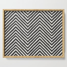 chevron painted Serving Tray