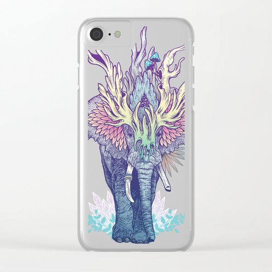 Spirit Animal - Elephant Clear iPhone Case