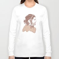 "thorin Long Sleeve T-shirts featuring Thorin 'Manbun"" Oakenshield by rdjpwns"