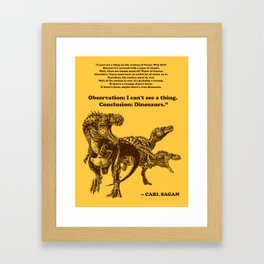 Conclusion: Dinosaurs (Color) Framed Art Print