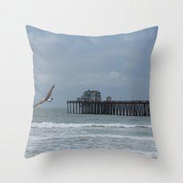 Flying Through Throw Pillow