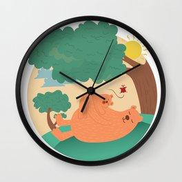 bear-ther and daughter-ooo nina bobo Wall Clock