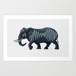 Elepham (Herd of Sheffield) Art Print