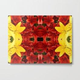 """A Gathering of Lilies"" Remix - 1 (1-1) [D4465~12] Metal Print"