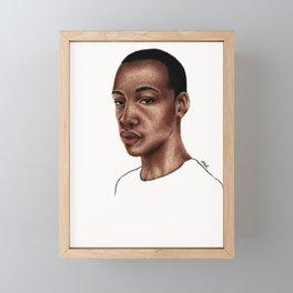 deep eyes Framed Mini Art Print