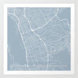 Chula Vista Map, USA - Slate Art Print