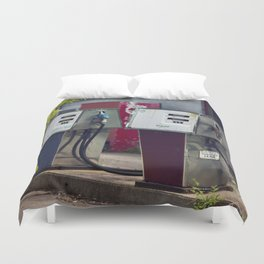 Service Stations of the Past Duvet Cover