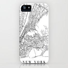 New York New York Street Map Minimal iPhone Case