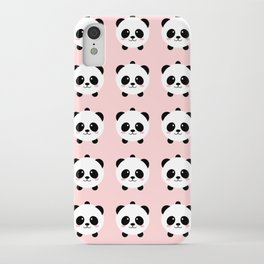 Lovely kawai panda bear iPhone Case