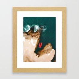 Top view Framed Art Print