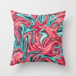 Electric Slushie Throw Pillow