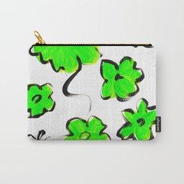 Green Flower Design Carry-All Pouch