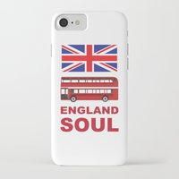 england iPhone & iPod Cases featuring England Soul by Tony Vazquez