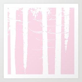Pink Forest Pattern Art Print
