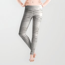 LINEN STRIPE RUSTIC Leggings