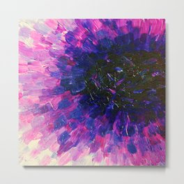 VACANCY - LIMITLESS Bold Eggplant Plum Purple Abstract Acrylic Painting Floral Macro Colorful Void Metal Print