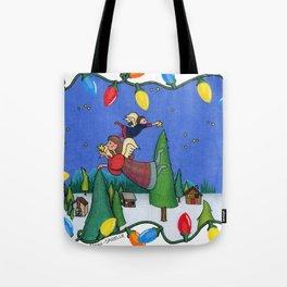 A Christmas Scene Tote Bag