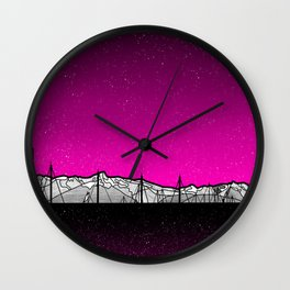 Kenai Mountains Wall Clock