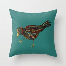 Mechanical Bird Throw Pillow