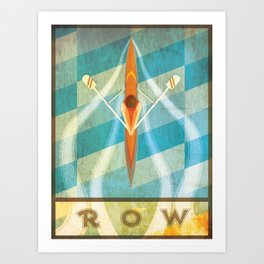 The Serenity of Sculling Art Print