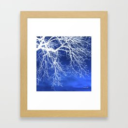 Weeping Tree Abstract Framed Art Print