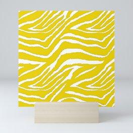 Zebra Golden Yellow Mini Art Print