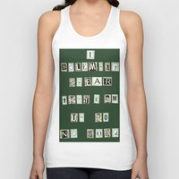 marauders Tank Tops featuring Marauders Map Pledge by Holly Walker