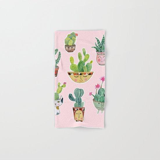 Cactus Pots Hand & Bath Towel